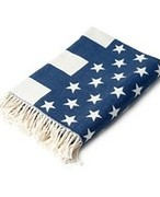 Lexington - Flag Throw Blue/White - 130cm x 180cm 12791